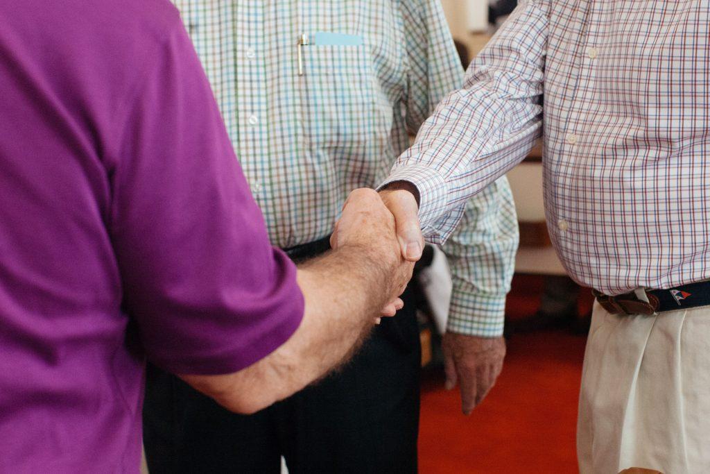 First Presbyterian Church Holding Hands